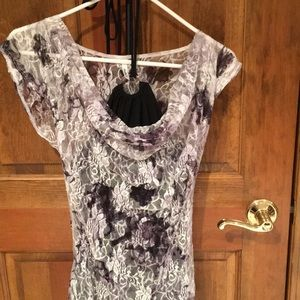 Maurices Studio Y Layered Black Tank w/Lace Shirt